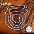 Оптовая 100% реального чистая стерлингового серебра 925 цепи ожерелья для женщин мужчин старинные цепи ювелирных изделий способа Bijoux JLC010