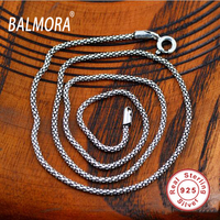 Wholesale 100 Real Pure 925 Sterling Silver Necklace Women Men Italy Chain Retro Vintage Brand Jewelry