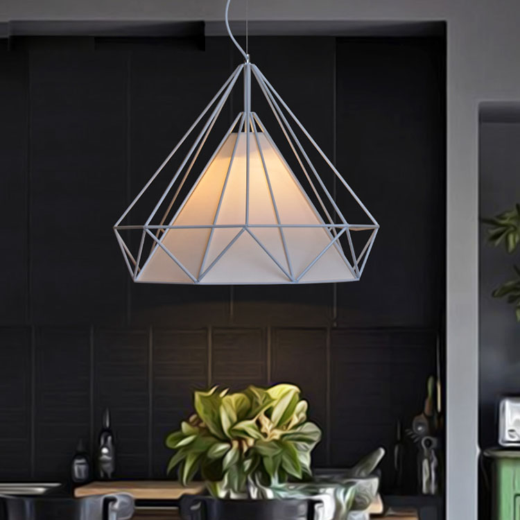 Modern brief vintage personally art diamond pendant light for Hotel home decor