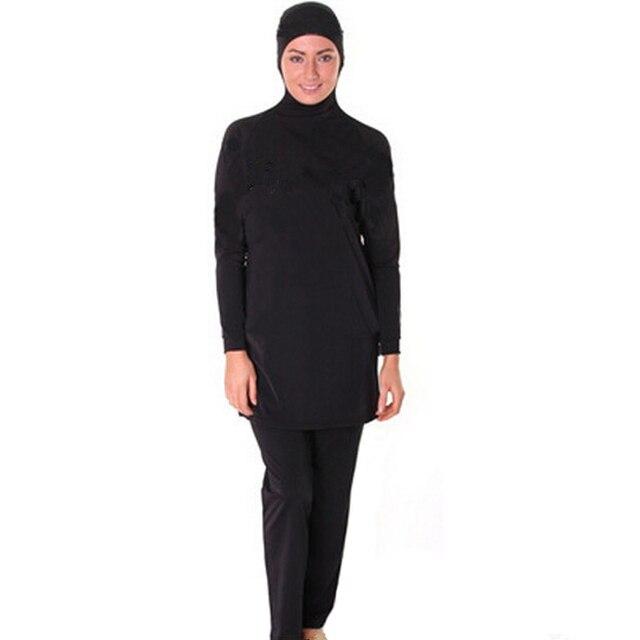 dc576b3d7ed Full Coverage Modest Muslim Swimwear Islamic Swimsuit for Women Arab Beach  Wear Muslim hijab Swimsuits bathing suit Good Quality-in Bikinis Set from  ...
