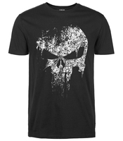 2016 Summer New Casual Punisher Skull Marvel T Shirts For Man Streetwear Hip Hop Comics Supper