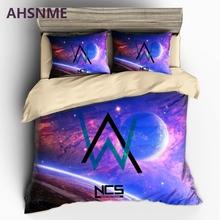 AHSNME Singer Alan Walker Pattern Bedding set Alan Walker Music Poster Quilt Cover High-definition Print Home Textiles