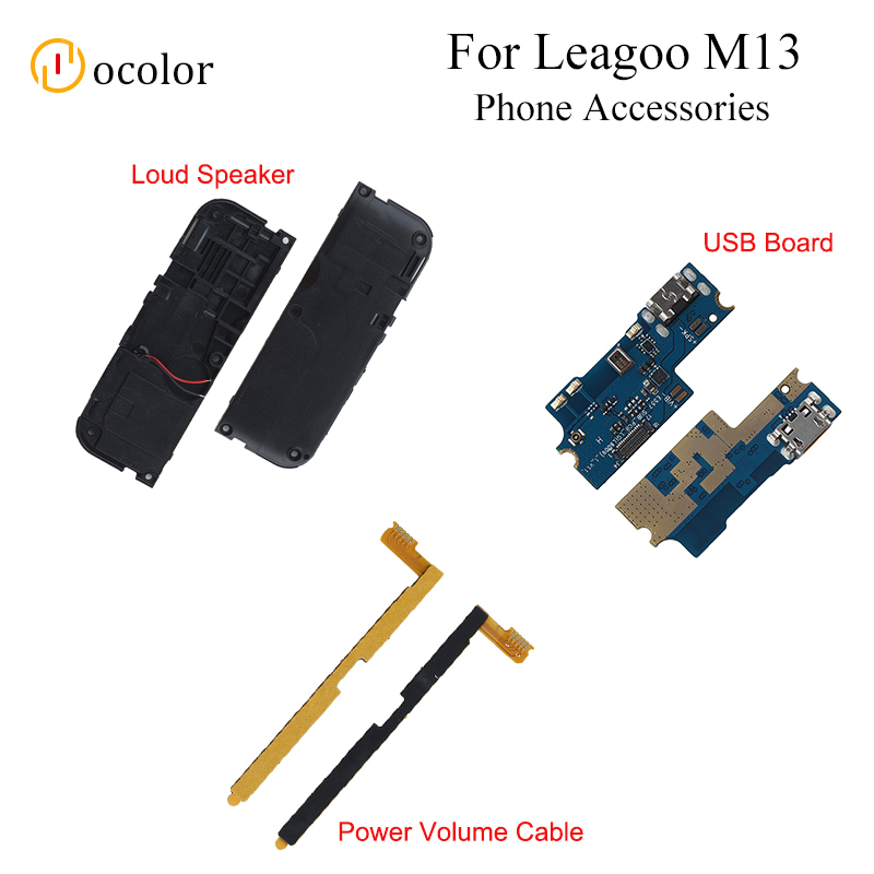 Ocolor For Leagoo M13 Loud Speaker USB Charge Board For Leagoo M13 Power Volume Cable Replacement High Quality Phone Accessories