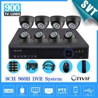 Video Surveillance Vision HD CMOS 900tvl Camera Kit 8channel Cctv 960h Realtime Dvr NVR Recorder HDMI