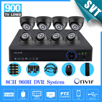 Video Surveillance Vision HD CMOS 900tvl Camera Kit 8channel Cctv 960h Realtime Dvr NVR Recorder HDMI