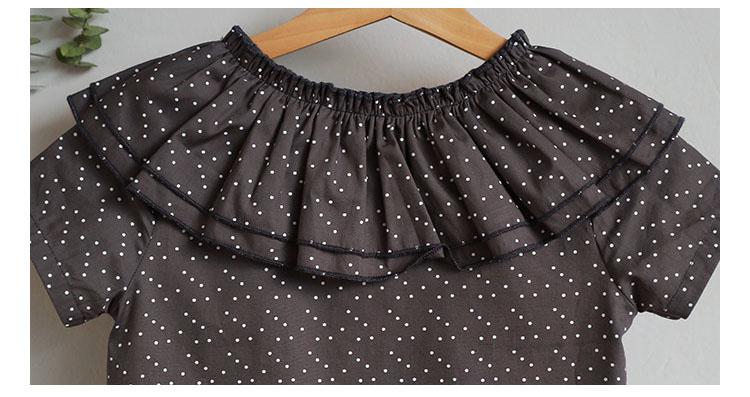 new fashion 2017 girl dress ruffles preppy style kids dresses for girls children school clothing dot short sleeve children dresses girls 2017 summer dresses kids clothes (4)