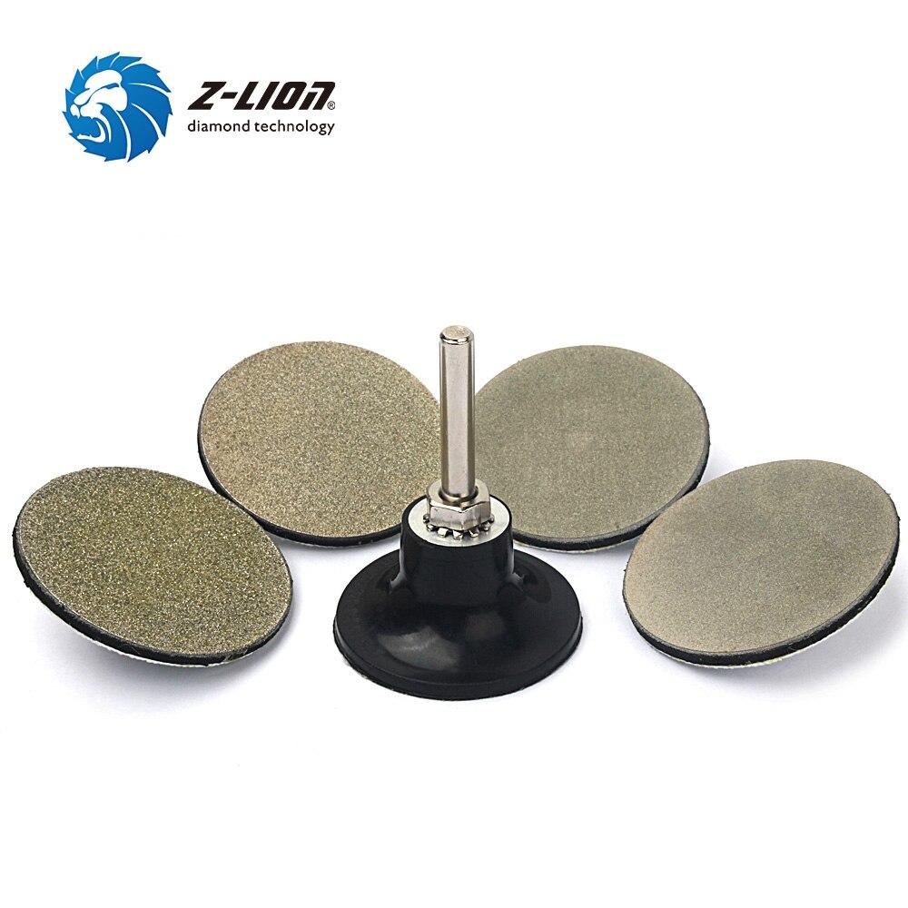 Z LION 2 Inch Roloc Rotary Abrasive Sanding Discs 4pcs Diamond Shanding Wheel Disc And 1