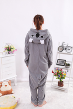 Gray Koala Onesies Pajamas Adult Pyjamas Cosplay Costumes Unisex Sleepsuit Animal Onesie Sleepwear Jumpsuit