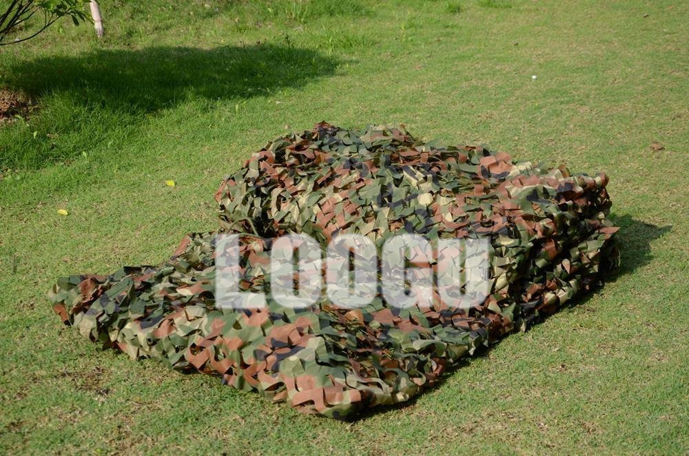 LOOGU EM 4M*5M Woodland Camouflage Netting Hunting Blinds Camo Netting Army Military Camouflage Netting Car covering tent loogu em 3m 4m blue camo netting sea ocean camouflage netting ship covering tent decoration camouflage net
