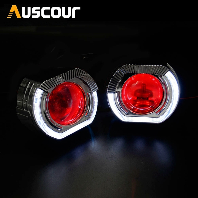 2.5inch H1 mini Bixenon hid Projector lens led day running shrouds DRL H1 H4 H7 retrofit car assembly kit