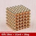 5mm ouro neo cube 216 pcs contas ímã bolas magnéticas de neodímio magia puzzle cube brinquedos engraçados para as crianças
