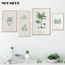 Nordic Style Green Plant Decoration Picture Scandinavian Leaf Poster and Prints Modern Home Decor  For Living Room