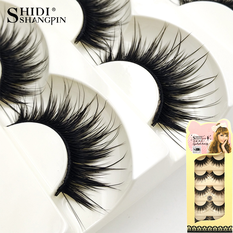 Newlashes 5 Pairs Fake Eyelashes Thick Eyelash Extension Long Make