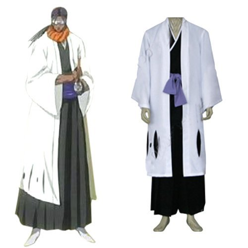 Bleach 9th Division Captain Tousen Kanamei Men's cosplay costume,Free Shipping