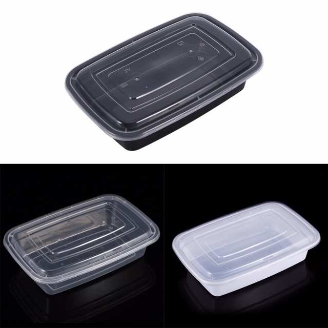 Disposable Microwave Plastic Food Storage Container Safe Meal Prep Containers For Home Kitchen Fruits