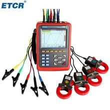 Анализатор качества питания ETCR5000 3 фазы Многофункциональный монитор качества питания с ETCR040B токовым зажимом
