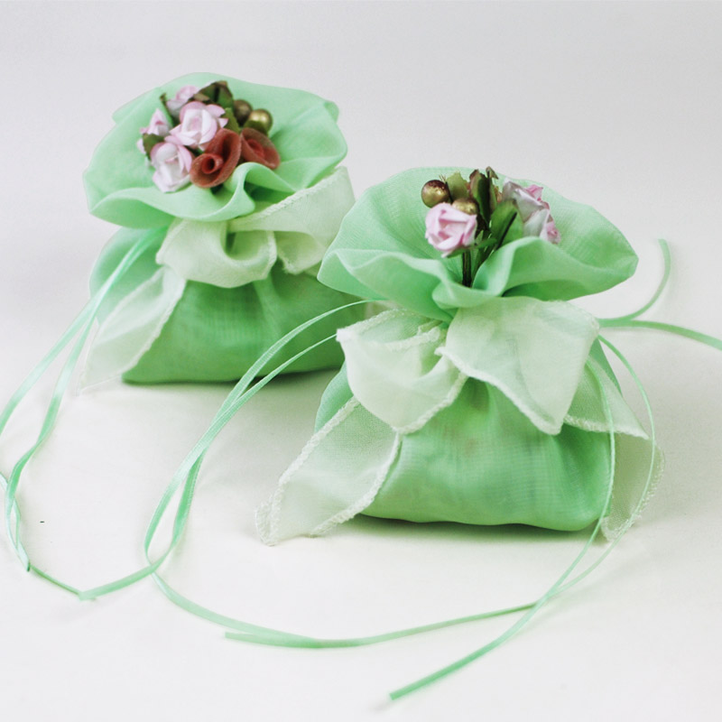aliexpress  buy mint green flowers candy chocolate yarn bags, Baby shower invitation