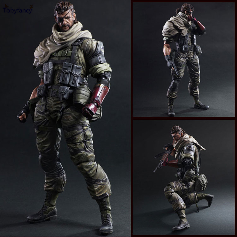 Tobyfancy Metal Gear Solid V The Phantom Action Figure Play Arts Kai Toys Venom Snake Collection Model 25cm play arts kai metal gear solid 5 the phantom pain quiet venom snake pa pvc action figure doll toys kids gift brinquedos