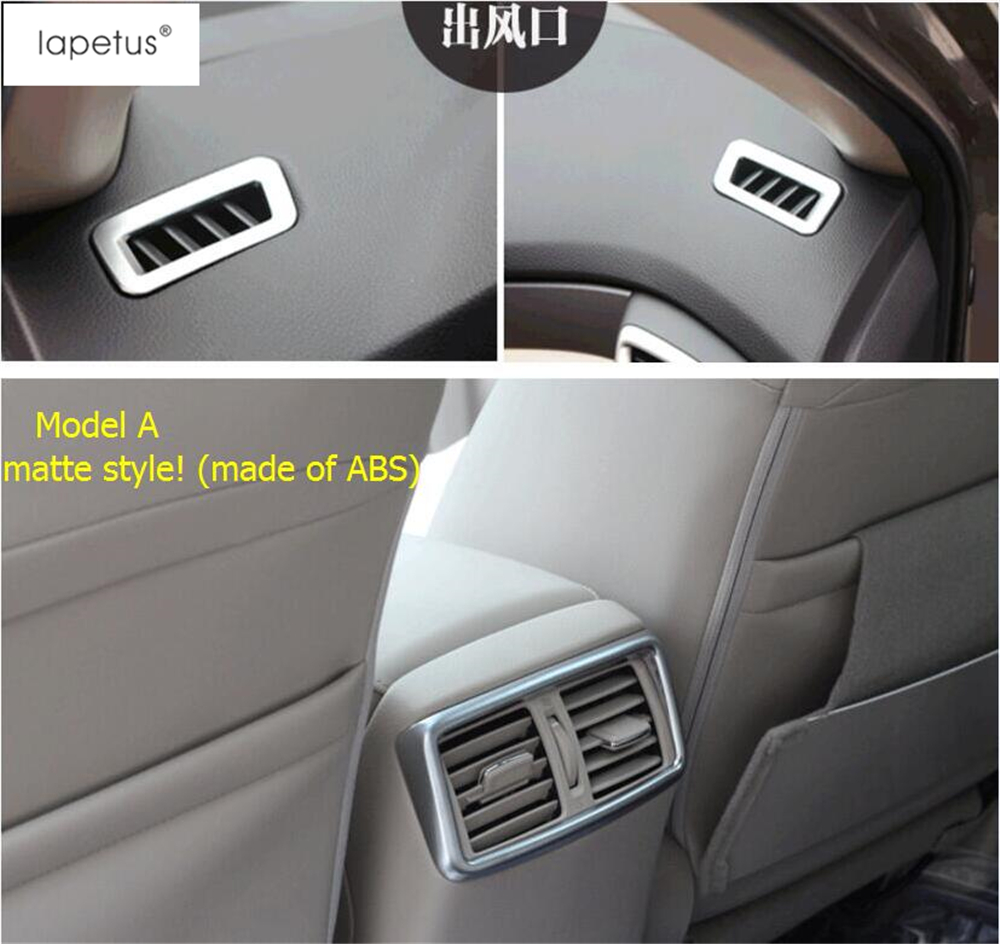 2 Color ! Accessories For Nissan X-Trail X Trail T32 Rogue 2014 - 2017 Front + Rear Air Condition AC Outlet Vent Cover Trim