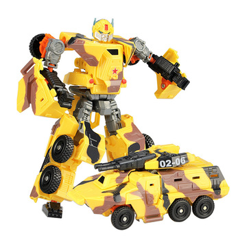 19cm Transformation Car Robot Toys Bumblebee Optimus Prime Megatron Decepticons Jazz Collection Action Figure Gift For Kids - L