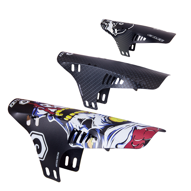 Richbit 2 piezas bicicleta de carretera Fender Mountain Bicycle Fender delantero trasero guardabarros Carretera ciclismo Mountain Front + trasero MTB Fender 2 pcs