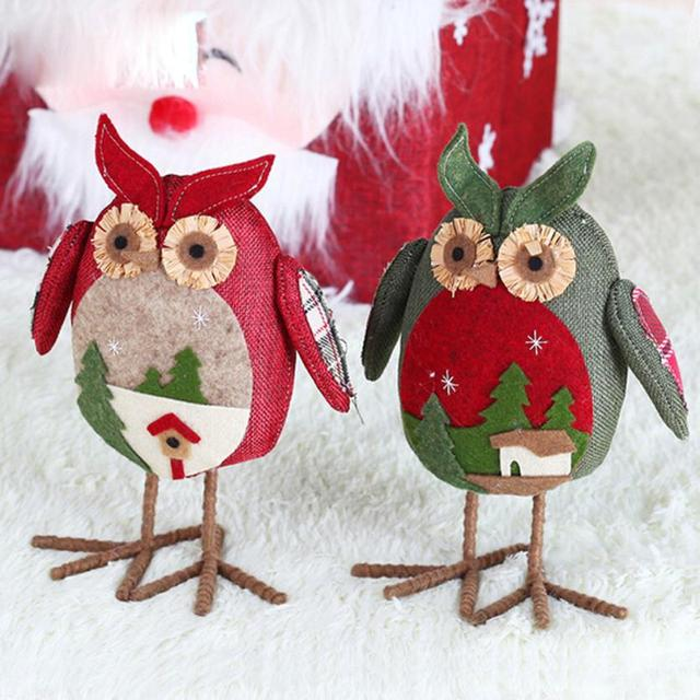 xmas christmas ornaments linen owl plush doll gift aberdeen natale ingrosso christmas decorations for home new