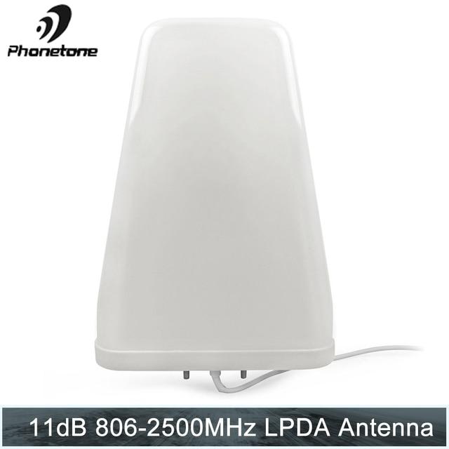 יומן תקופתית 11dBi 806 2500 MHz חיצוני עבור טלפון סלולרי אותות בוסטרים משחזר תקשורת מגבר עם N נקבה סוף