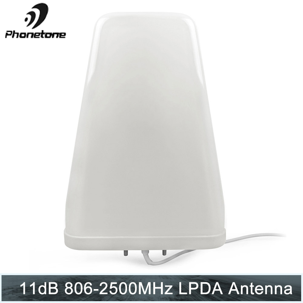 Log Periodic Antenna 11dBi 806-2500MHz Outdoor For Cell Phone Signal Booster Repeater Communication Amplifier With N Female End