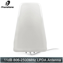 Log Periodic Antenna 11dBi 806 2500MHz Outdoor for Cell Phone Signal Booster Repeater Communication Amplifier with N Female End