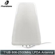 Log Periodic Antenne 11dBi 806 2500MHz Outdoor für Handy Signal Booster Repeater Kommunikation Verstärker mit N Weibliche ende