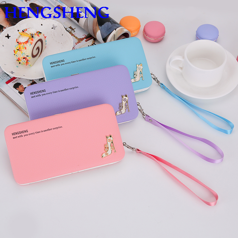 купить HENGSHENG Popular women long wallet for fashion ladies hand wallets by quality pu leather lady wallet women long wallets онлайн