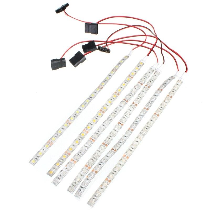 60cm Waterproof LED Strip 5050 SMD DC12V 18 LED Flexible LED Case Strips Tape Light for
