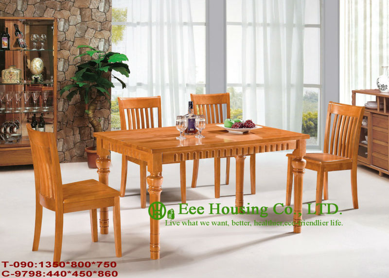 C-9798,T-090 Living Room Furniture,Luxurious Solid Dining Chair,Customized Solid Wood Dinning Table & Chairs/Home Furniture