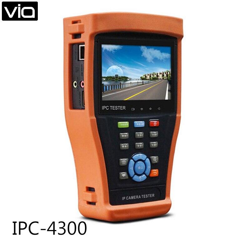 IPC 4300 Direct Factory 4 3 ipc tester IP camera tester AHD CVI TVI SDI tdr