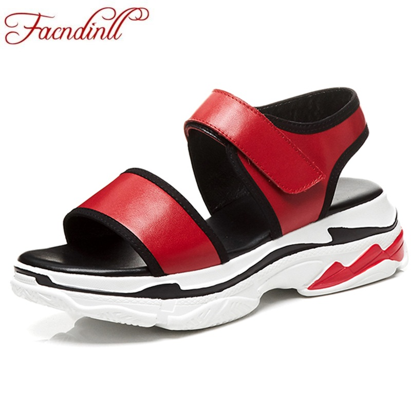 FACNDINLL fashion ladies shoes women summer open toe platform wedges high heels female shoes 2018 new casual date woman sandals facndinll new women summer sandals 2018 ladies summer wedges high heel fashion casual leather sandals platform date party shoes