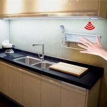 Hand Sweep Sensor Control LED Unter Kabinett Licht DC 12 V 30 40 50 cm LED Fest Bar Nacht Lampe für Küche Schlafzimmer Schrank Schrank