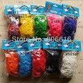 4 jogos/lote Mix 10 Cores DIY Pulseiras Kit Borracha Loom Bandas Recargas (600 bandas + 24s-Clips/Set)
