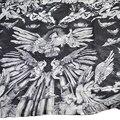 Мода Марка Шифон Шарфы черный ангел Череп Шарфы Женщины Негабаритных Длинные Платки Дамы Подражали Шелковые Платки и Écharpe