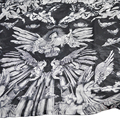 Fashion Brand Chiffon Scarves black angel Skull Scarfs Women Oversized Long Shawls Ladies Imitated Silk Foulard and Echarpe