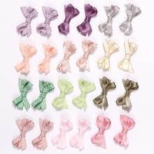 6pcs/set Cloth Bowknot Hair Clips toddlers hair bows hair clips for girls mini hair ties hairpin kids hair accessories J101 цены