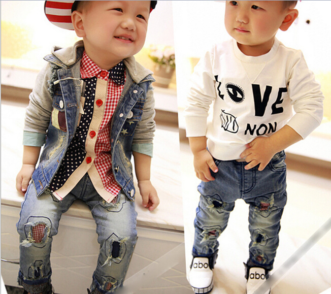 Summer and Autumn Ripped Jeans for Baby Boys Toddler Clothing Free  Shipping(China (Mainland - Online Buy Wholesale Ripped Jeans For Baby Boys From China Ripped