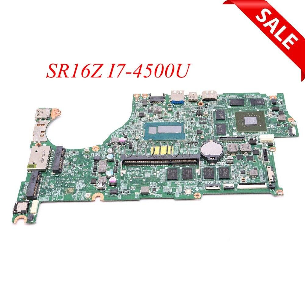 NOKOTION DAZRQMB18F0 carte Principale Pour acer aspire V5-573G mère d'ordinateur portable GT750M 4g SR16Z I7-4500U NBMB611001 NB. MB611.001