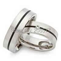Западные пользовательские черные обручальные кольца из нержавеющей стали ювелирные изделия его и ее наборы для 2014