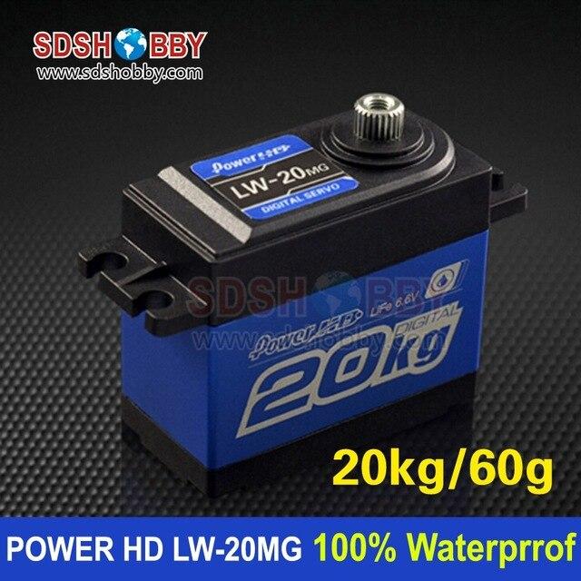 POWER HD LW-20MG Completely 100% Waterproof Digital Servo 20kg/60g for Cars Airplanes