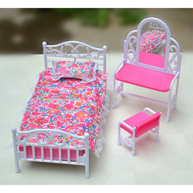 buy miniature bedroom furniture for barbie doll house