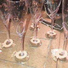 12pcs Wine Cup Card Laser Cut Paper Diamond Ring Wedding Table Decor Bridal Shower Bachelorette Hen Party Decorations