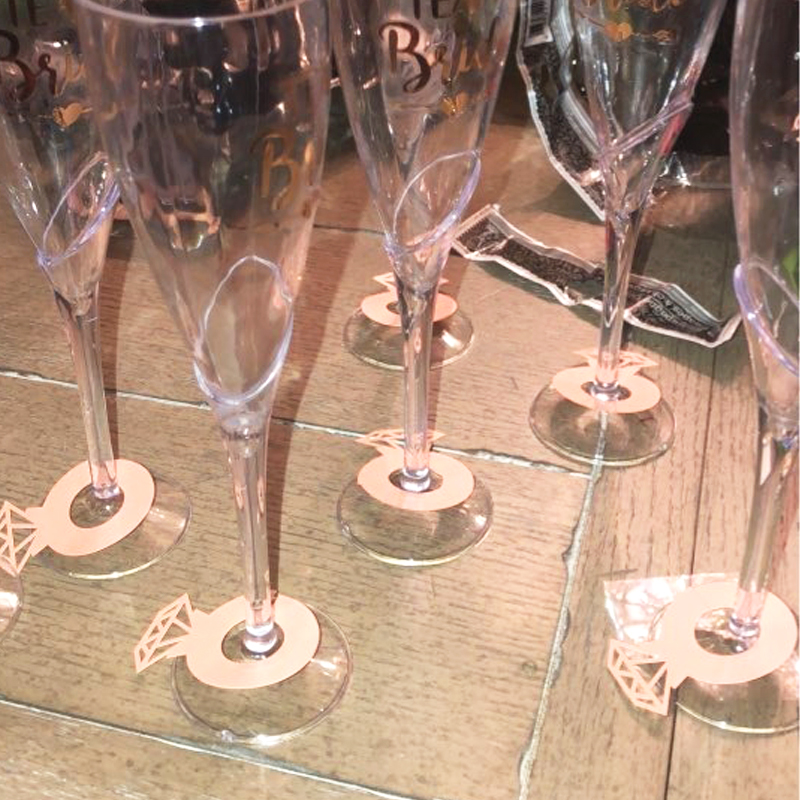 12pcs Wine Glass Cup Decorative Cards Wine Cup Card Wedding Table Decor Engagement Shower Bachelorette Party Decorations in Party DIY Decorations from Home Garden