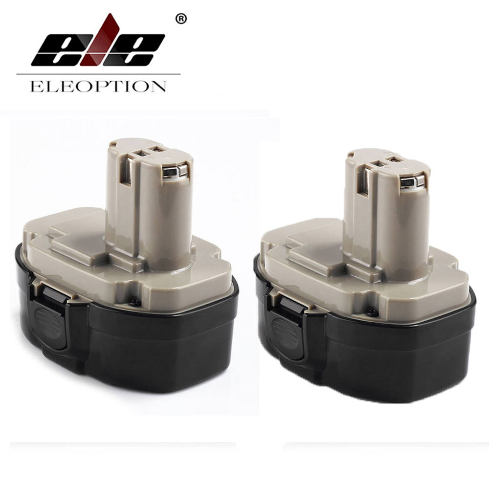 ELEOPTION 2PCS 18V 3000mAh Ni-MH Replacement Battery for Makita 1822 1823 1834 1835 192827-3 192829-9 193159-1 193140-2 193102-0 аккумулятор makita 18в 1 9ач nicd 1822 192827 3
