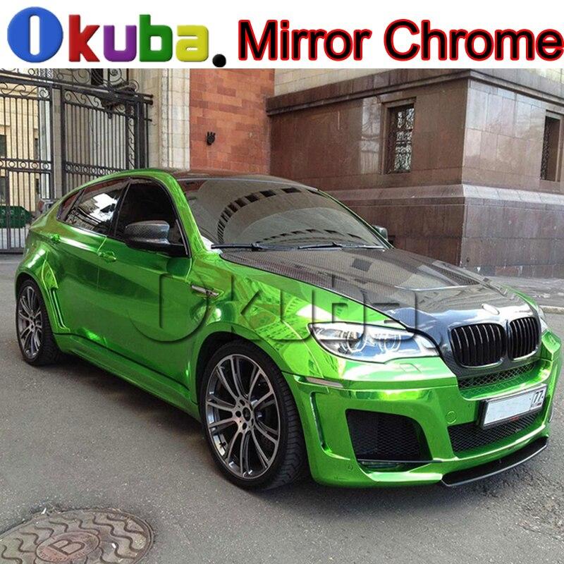 Green Chrome Vinyl Wrap Film 3 Layers Mirror Chrome