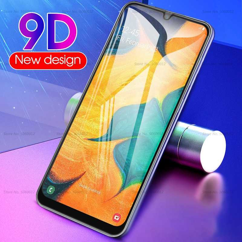9D Full Curved Tempered Glass For Samsung Galaxy A30 A50 Screen Protector For Samsung Galaxy M10 M20 M30 A 50 30 Protective Glas
